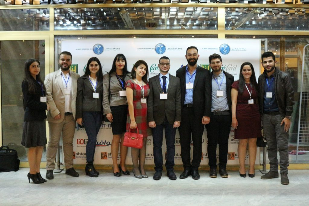 Group picture for MED team in the conference during the poster session