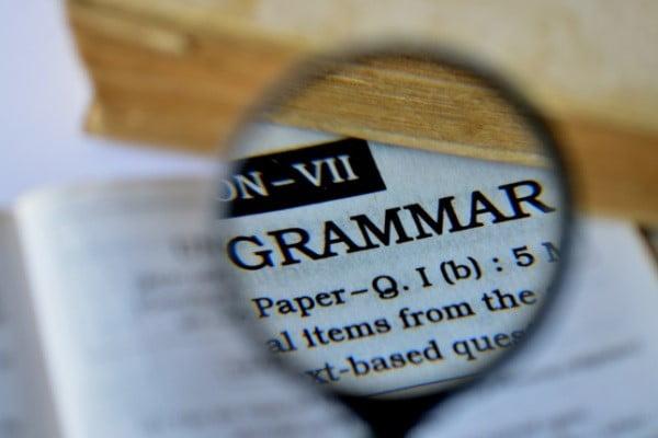 Grammar-Academic writing