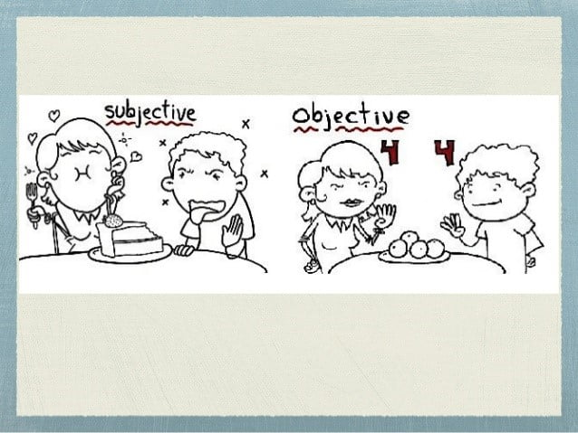 academic writing - subjective and objective